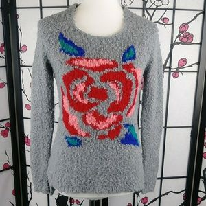 L'Amour Nanette Lapore Boucle Sweater Rose Knit